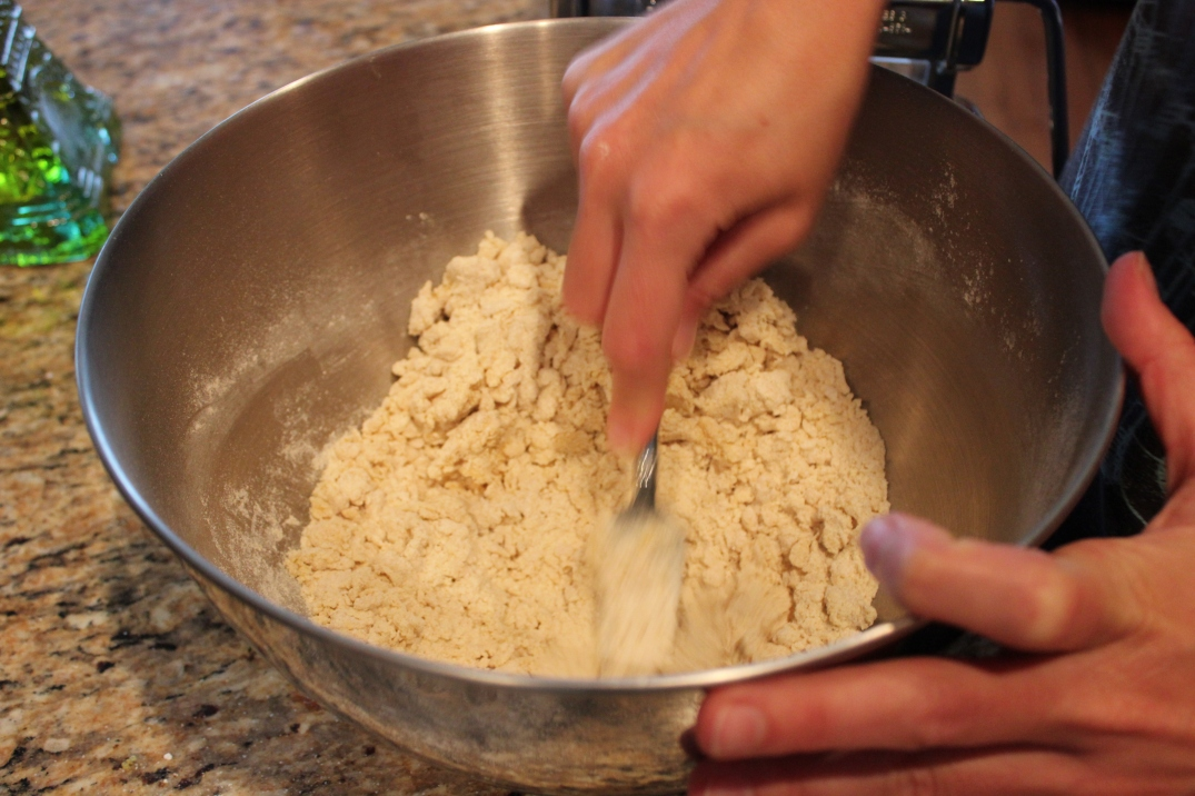 Making the pasta dough