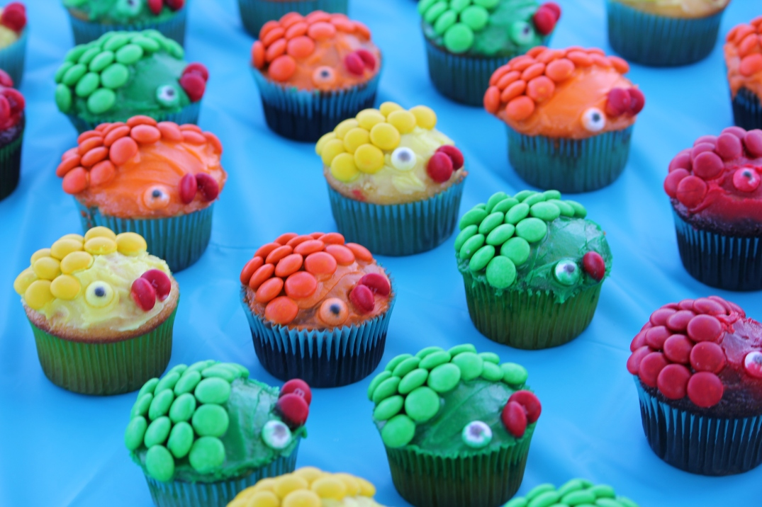 Fish shaped cupcakes