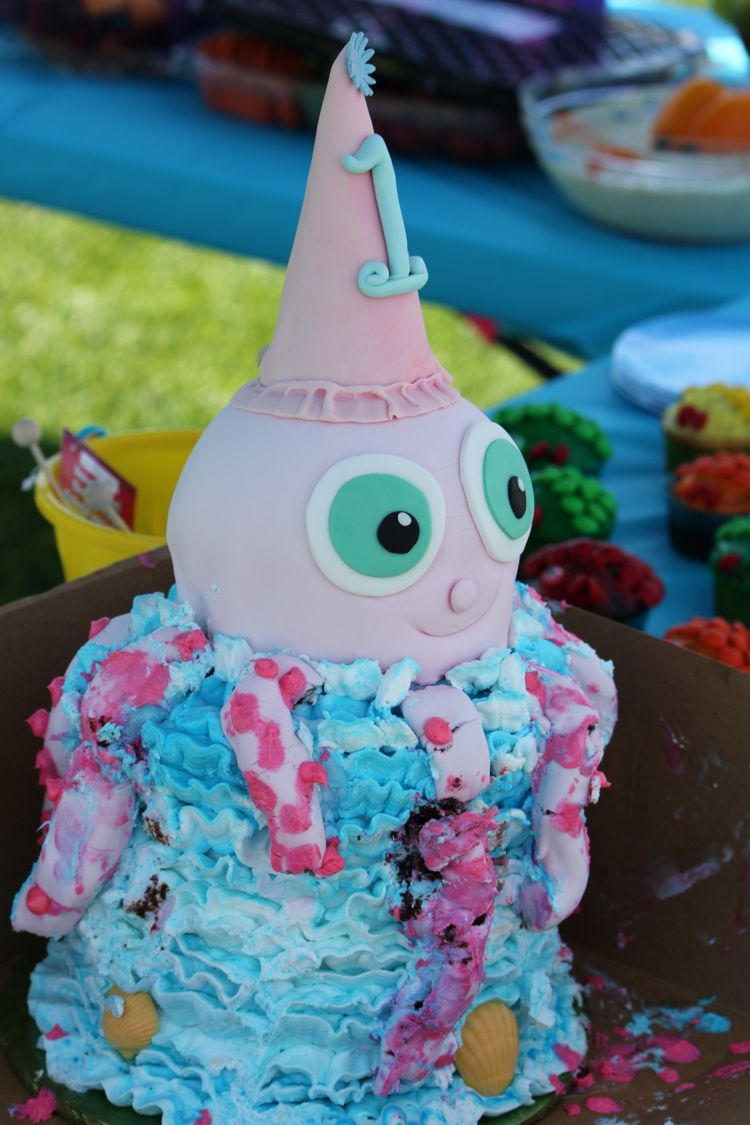 MacKenzie's Octopus Birthday Cake