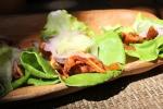 Crispy Pig Ear Lettuce Wraps