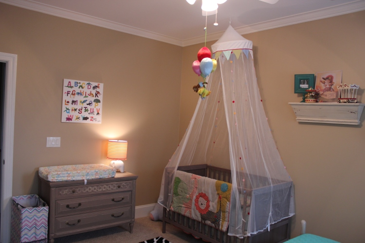 I wanted a crib that was pretty minimalist and I loved the grey color that went with all my antique furniture. The crib was $120 and the canopy was $20!!!! Most cribs I looked at started around $500 so I am very happy with both the look and the price.