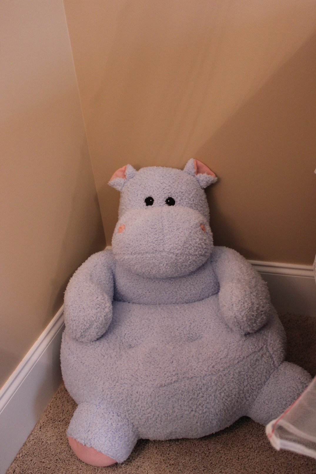 I ordered this hippo chair on Amazon for $36! It was the very first thing I bought for the room. Chris and I are totally obsessed with hippos :)